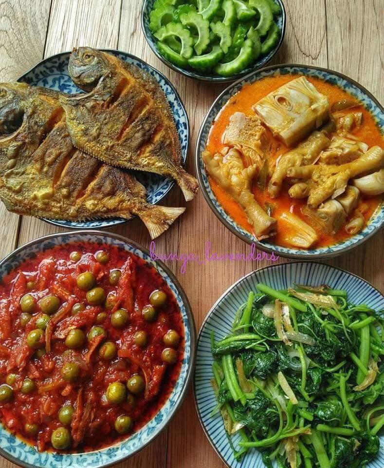 30 hari iftar dengan lauk pauk ala kampung rindu masakan omak