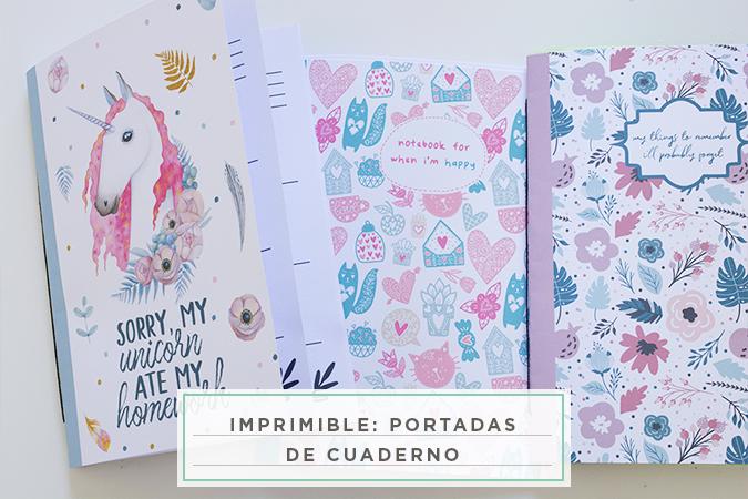 Dibujos Para Portadas De Cuaderno: Imprimible: Portadas De Cuaderno
