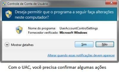 UAC do Windows 7