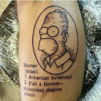 tatuaje homero