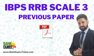 IBPS RRB Scale 3 Previous Paper 2020 PDF
