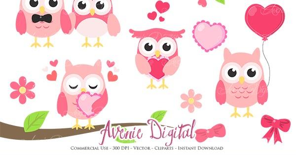 Owl Love Clipart - Valentine Owl Clip Art - Free Transparent PNG Clipart  Images Download