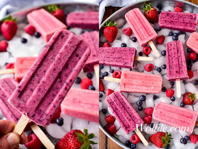 Fruit Smoothie Popsicles Recipe #Summer #Dessert #Snack #Fruit