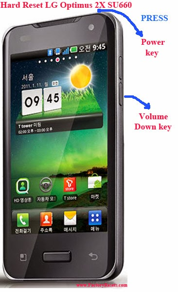Hard Reset LG Optimus 2X SU660