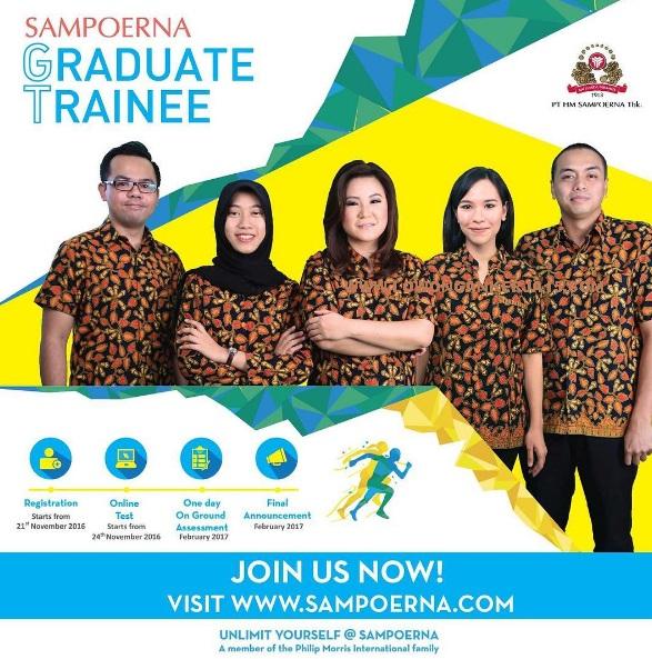 Lowongan Kerja PT HM Sampoerna Tbk, Lowongan kerja Seluruh Indonesia