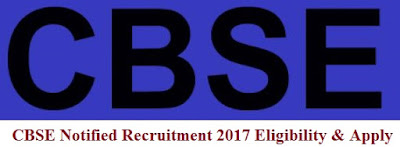 CBSE Notified Recruitment 2017 Eligibility & Apply Online for JS, JD, AS, DD, JA, SA, EA, SO Posts