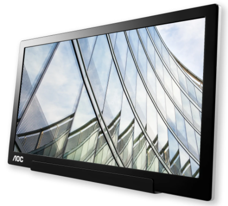 """AOC lança monitor portátil de 15,6"""" I1601P com conexão híbrida USB-C e USB-A"""