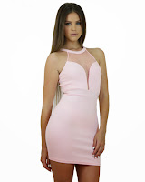 Rochie Mini cu Inserţii Transparente
