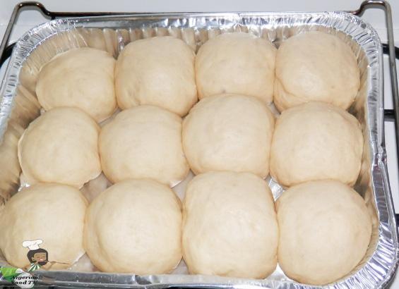 Nigerian Pull Apart Bread : second rising or proving