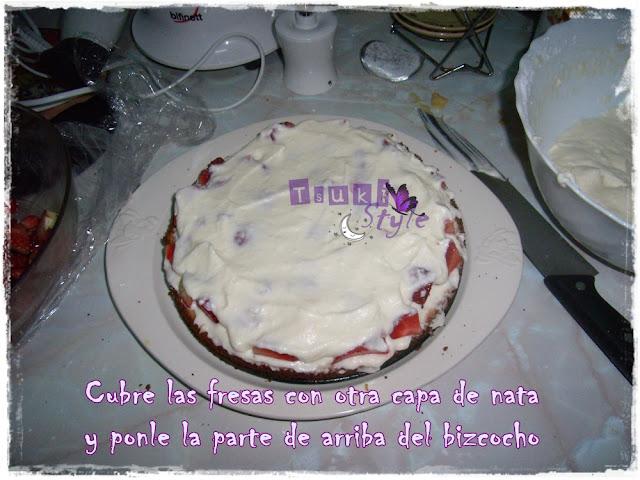 tarta de fresas, short cake