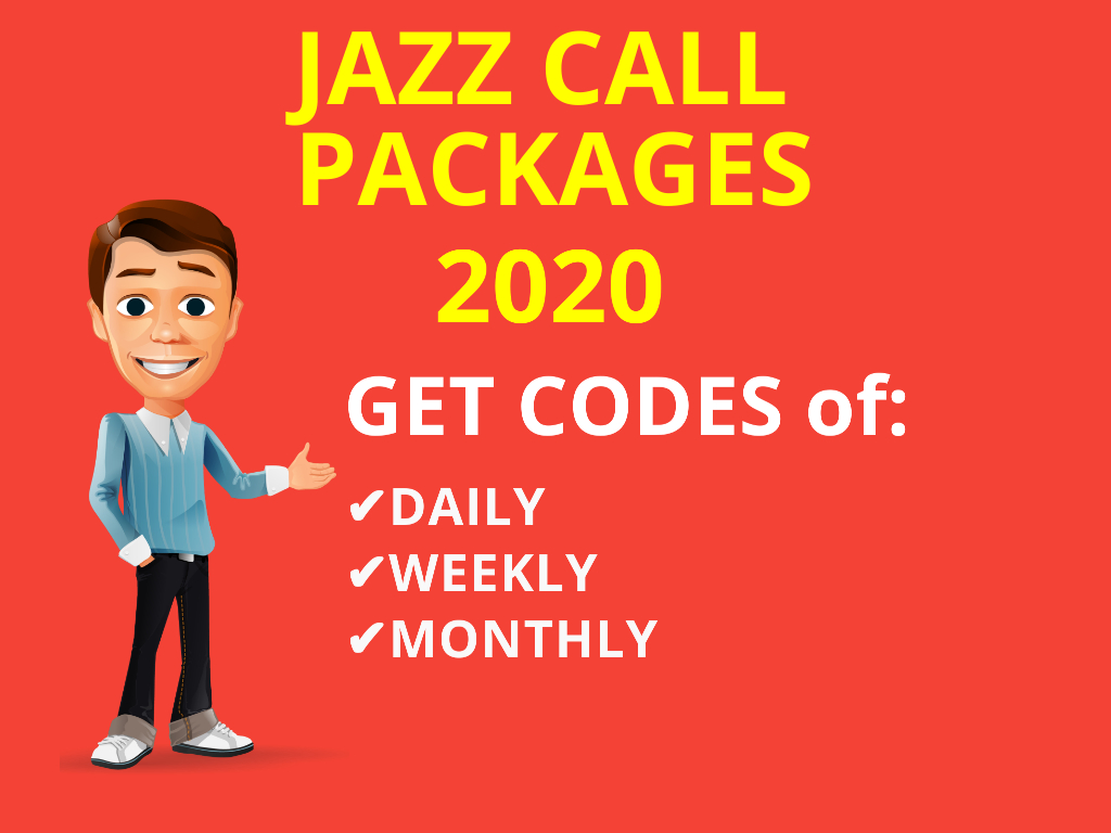 Get Latest 2020 One Day Call Package Jazz, Jazz Mobilink Weekly Call Package and Jazz Monthly Call Pkg Jazz Warid Daily Call Package Codes here free.