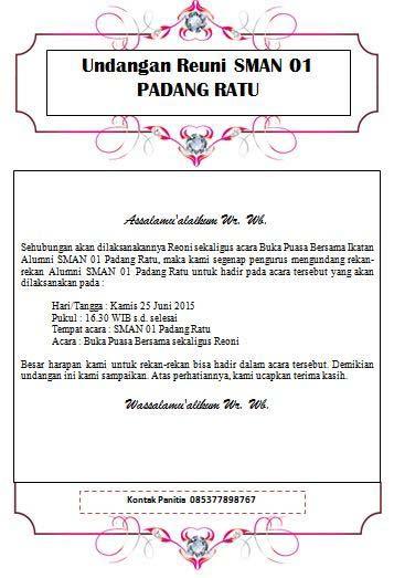 Contoh undangan reuni sekolah