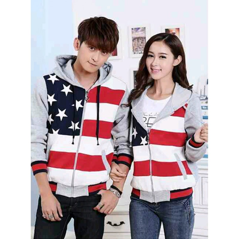 Jual Jacket Couple Jacket Bintang Abu - 23605