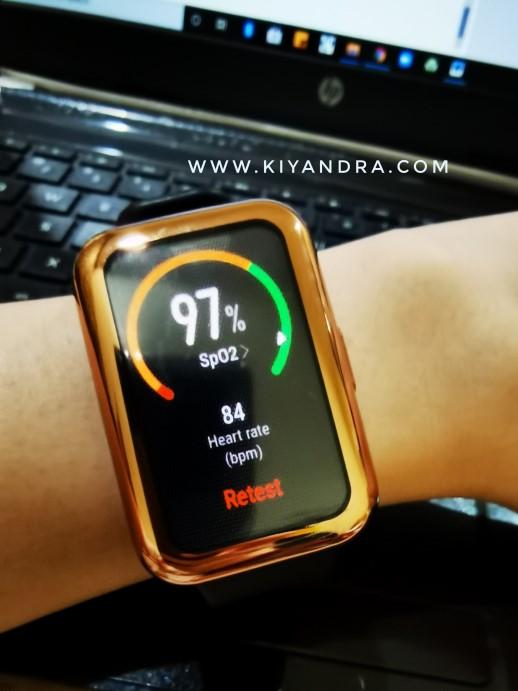 SpO2 Test & Heart Rate Test Huawei Watch Fit