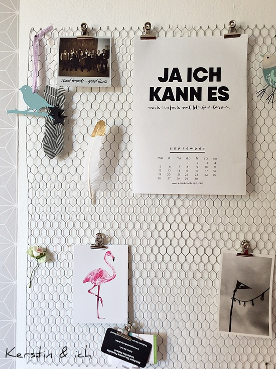 DIY Pinnwand aus Hasendraht