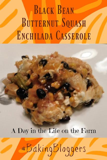 Black Bean and Butternut Squash Enchilada Casserole pin