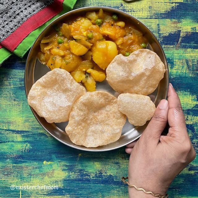 South Indian Style Potato Masala For Poori