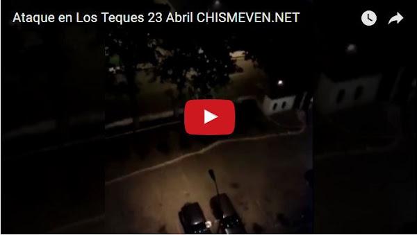 Urb. Cecilio Acosta en Los Teques, atacada por la Guardia este sábado