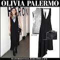 12cf3a7f443b Olivia Palermo in black asymmetric dress and silver top in New York on  October 18 Olivia Palermo at House of Peroni opening in New York on October  18 2018 ...