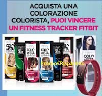 Logo Con Colorista puoi vincere un Fitness Tracker Fitbit ( 100 premi in palio)