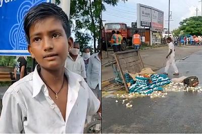 Indore Egg Sellers Cart Overturned Allegedly Over Rs 100 Bribe