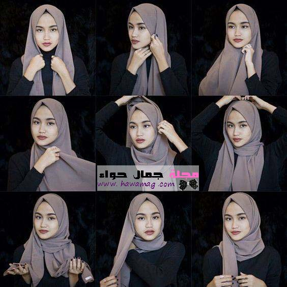 لفات حجاب للمراهقات للمدرسة وللبنات الصغيرات بالصور