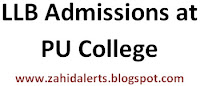 LLB Admissions in PU Law College Procedure