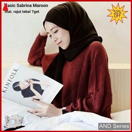 AND279 Baju Atasan Wanita Blouse Basic Sabrina BMGShop