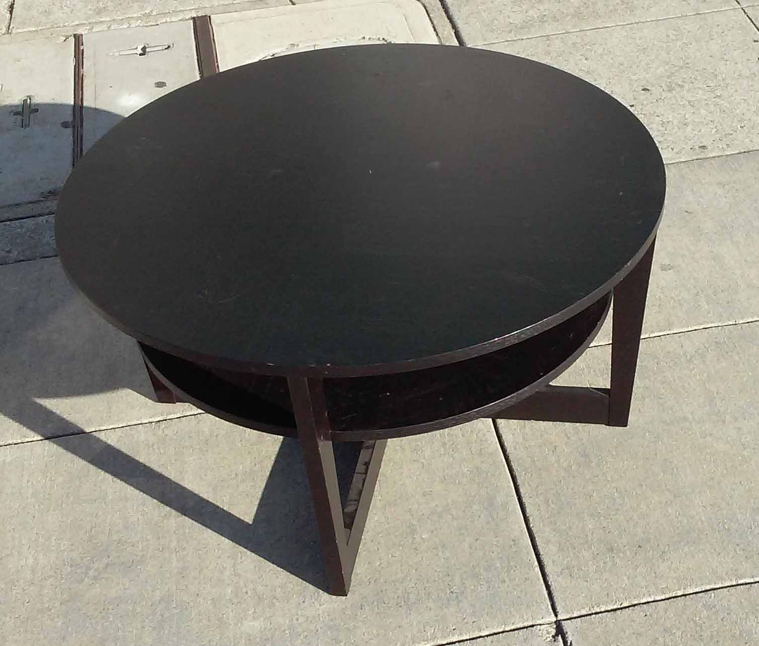 Black Coffee Table Curved: UHURU FURNITURE & COLLECTIBLES: SOLD Ikea Black Round
