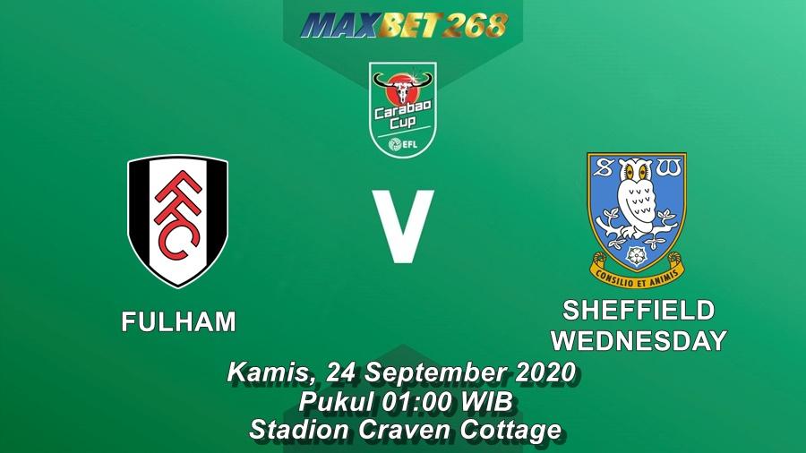 Prediksi Fulham Vs Sheffield Wednesday, Kamis 24 September 2020 Pukul 01.00 WIB