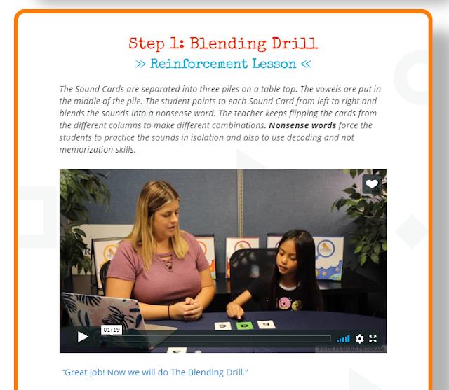 screenshot of training video from PRIDE Reading Program