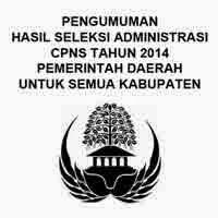 Gambar untuk Hasil Seleksi Administrasi CPNS 2014 Pemerintah Kabupaten