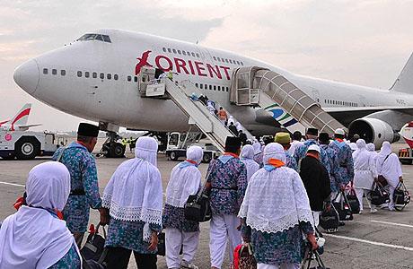 Pesawat Saudia melayani jamaah haji embarkasi Jakarta