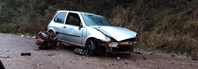 Roncador: Motorista perde controle e capota veiculo próximo a antiga farinheira