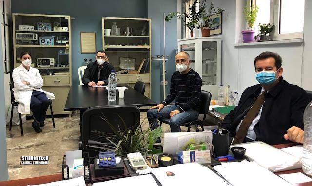 Επίσκεψη Μαλτέζου - Διαμαντόπουλου στο Νοσοκομείο Ναυπλίου