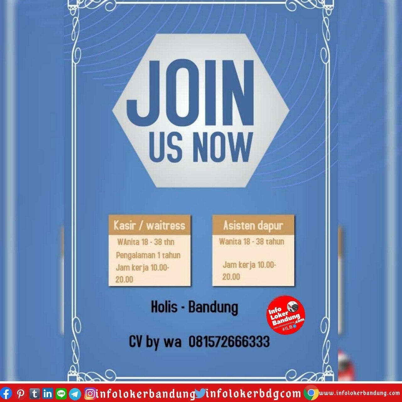 Lowongan Kerja Restoran Holis Bandung Juli 2020