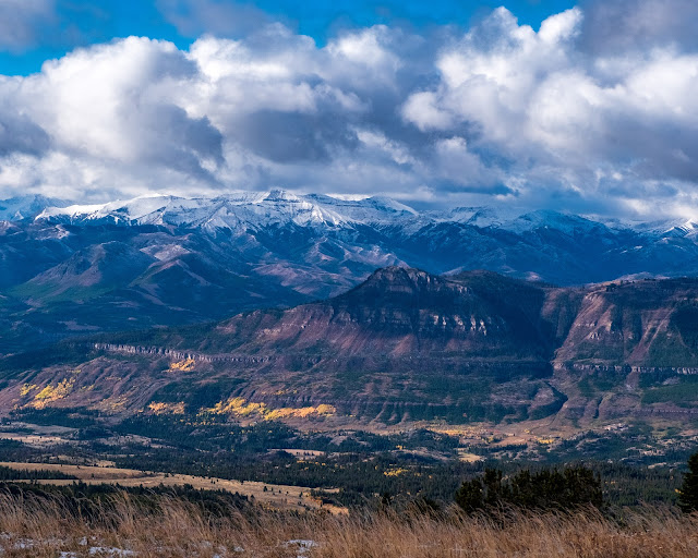 Adventurous Tastes| Scenic mountain view from Bear's Tooth Highway