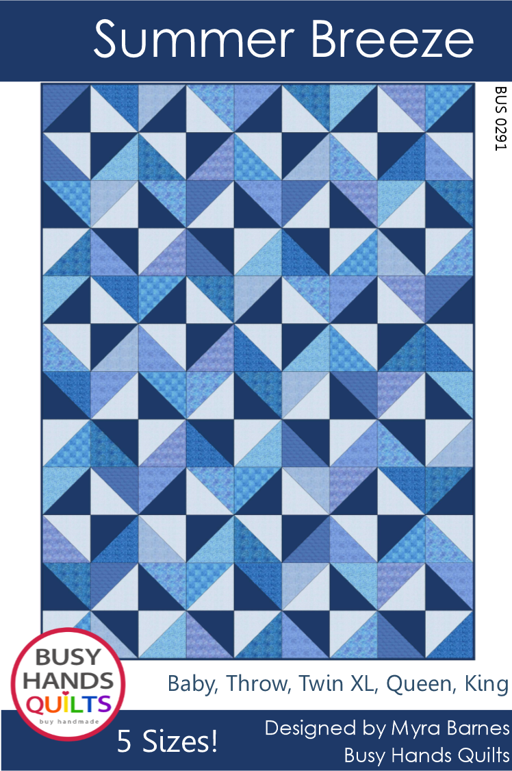 Summer Breeze Quilt Pattern by Myra Barnes