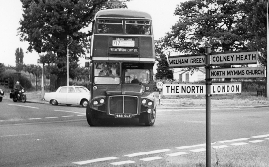 Photograph of Dixons Hill crossroads July 1966 Image from Ron Kingdon