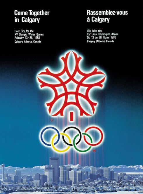 1988 winter olympics poster calgary alberta