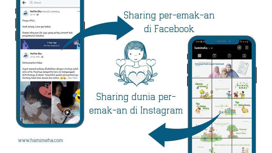 Berbagi lewat sosial media