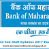 Bank of Maharashtra Sub Staff Syllabus 2017 BoM Exam Pattern