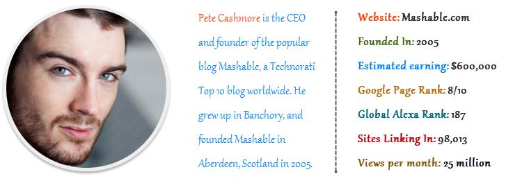 Pete Cashmore - Mashable