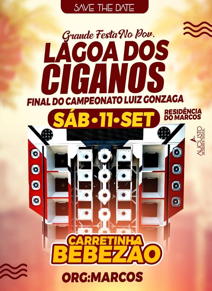 Grande Festa no povoado Lagoa dos Ciganos dia 11 de setembro de 2021