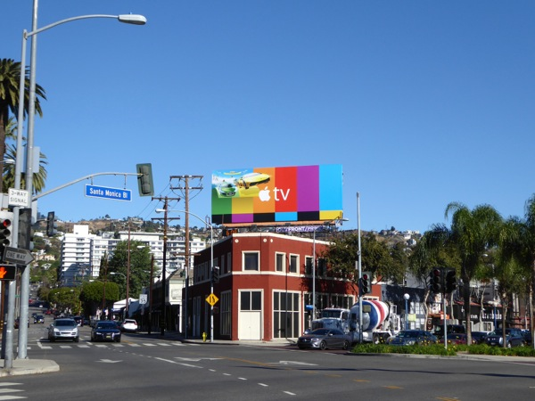 Apple TV cars billboard