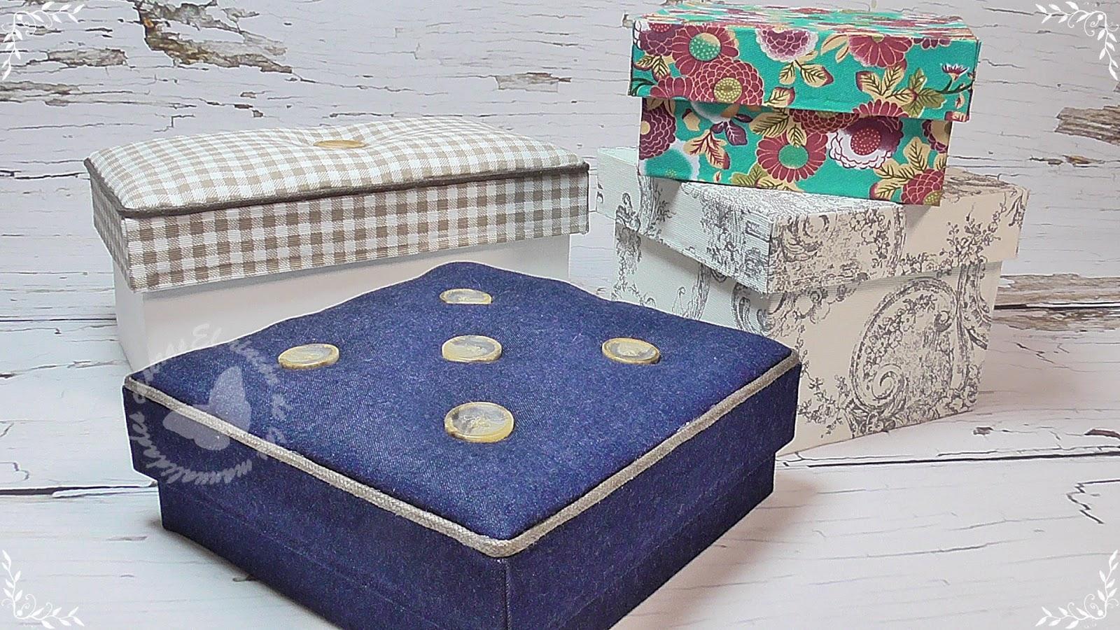 El rinc n de las manualidades caseras c mo hacer cajas - Cajas de carton decoradas ...