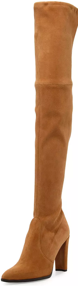 Stuart Weitzman Highstreet Suede Over-The-Knee Boot, Toffee