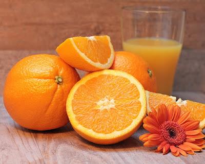 jus jeruk, pisang dan nanas
