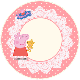 Peppa Pig and Family, Toppers or Free Printable Candy Bar Labels.