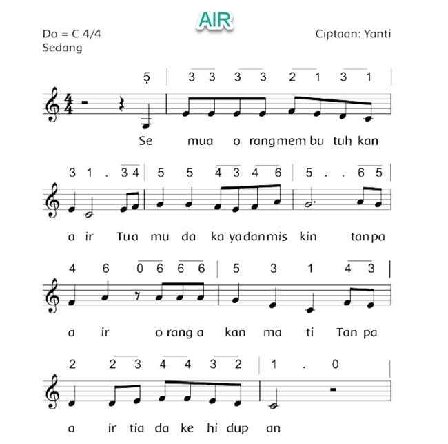 Lagu Tentang Air